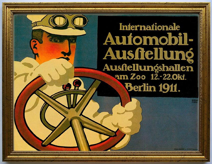 Auto-Werbung: IAA Berlin 1911, edel gerahmt in ca. A3 | eBay