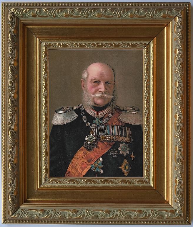Kunstdruck Kaiser Wilhelm I.,viele Orden edel gerahmt.